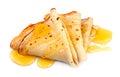 Sweet pancakes with honey Royalty Free Stock Photo