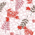 Sweet pastel summer Tropical summer floral safari leaves on exotic animal skin leopard prints ,hand drawn style background. Seam Royalty Free Stock Photo
