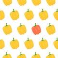 Sweet pepper seamless pattern