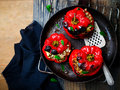 The sweet pepper stuffed with lamb and pearl barley Royalty Free Stock Photo