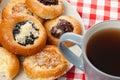 Sweet pie and tea Royalty Free Stock Photos