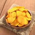 Sweet Potato Chips Royalty Free Stock Image