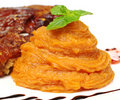 Sweet Potato Puree Royalty Free Stock Photography
