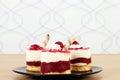 Sweet raspberry cake