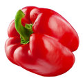 Sweet red pepper. Fresh paprika isolated. With clipping Royalty Free Stock Photo