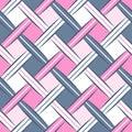 Second Wrhombus Sweet Dark Blue Pink Simple Rhombus Webbing Oblique Seamless Pattern