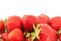 Sweet ripe strawberries with leaves isolated Royalty Free Stock Photo