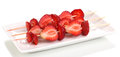 Sweet ripe strawberries on stick Stock Photography