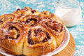 Sweet rolls with dried fruits Stock Images
