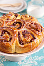 Sweet rolls with dried fruits Stock Image