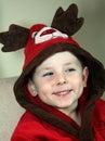Sweet santa reindeer Royalty Free Stock Photos