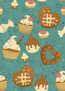 Sweet seamless pattern Stock Photos