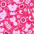 Sweet seamless pattern cute animals Stock Image