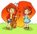 A sweet serenade Royalty Free Stock Photo
