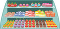 Sweet shop Stock Images