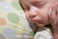 Sweet sleeping baby a boy quietly the image orientation is horizontal and there is copy space Stock Image