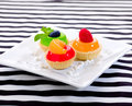 Sweet snack jelly cupcake Stock Photos
