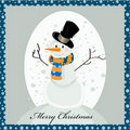 Sweet snowman greeting card Royalty Free Stock Photos