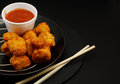 Sweet and sour chicken balls Royalty Free Stock Photos