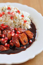 Sweet and sour cranberry chicken with pomegranate Royalty Free Stock Images