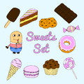 Sweet-stuff set Royalty Free Stock Photo