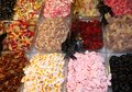 Sweet and sugary sweet sweets of all tastes colours for sale at the market Royalty Free Stock Photos