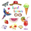 Sweet Summer Watercolor Isolat...