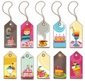 Sweet tags Royalty Free Stock Photo