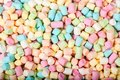 Photo of colored marshmallows on the table