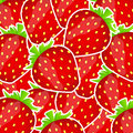 Sweet tasty strawberry vector illustration Royalty Free Stock Images
