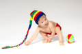 Sweet toddler with a ball Royalty Free Stock Photo