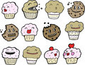Sweet treats illustrations Stock Photography