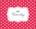 Sweet valentine card Stock Images