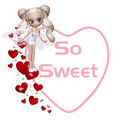 So Sweet Valentine Fairy Royalty Free Stock Image