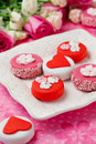 Sweet Valentine Petit Fours Stock Photo
