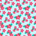 Sweet vector pattern with small flower Royalty Free Stock Photo