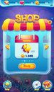 Sweet world mobile GUI shop screen video web games Royalty Free Stock Photo