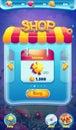 Sweet world mobile GUI shop screen video web games Royalty Free Stock Photo
