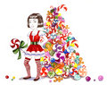 Sweet xmas  tree Royalty Free Stock Photos