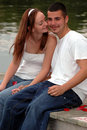 Sweet young couple Royalty Free Stock Photos