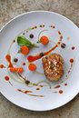 Sweetbread and carrots Royalty Free Stock Photo