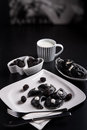 Sweeten pierogi with blackberries Royalty Free Stock Image