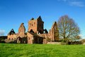 Sweetheart abbey the old ruins of an old cistercian monastery located in the village of new dumfries and galloway scotland Stock Photography
