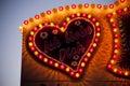 Sweetheart on a fun fair Stock Photo