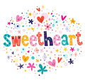 Sweetheart typography lettering decorative text