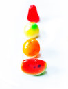 Sweetmeats fruit on white background Royalty Free Stock Photo