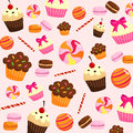 Sweets background consisting many food Stock Photography