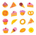 Sweets & bakery set Royalty Free Stock Image