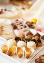 Sweets on banquet table Stock Photos