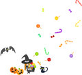 A sweets-box of Halloween Stock Photography